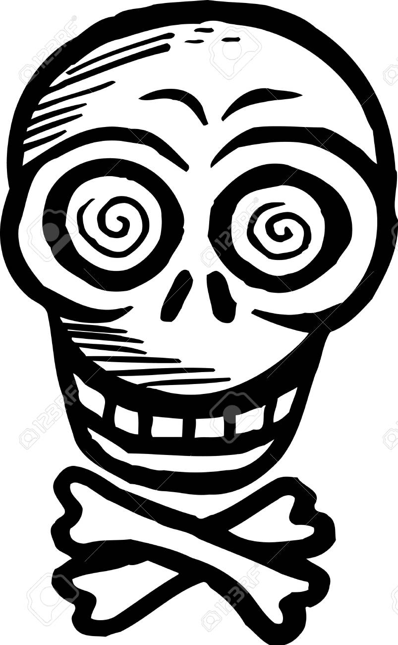 Black and white skull and crossbones Stock Photo - 14864851