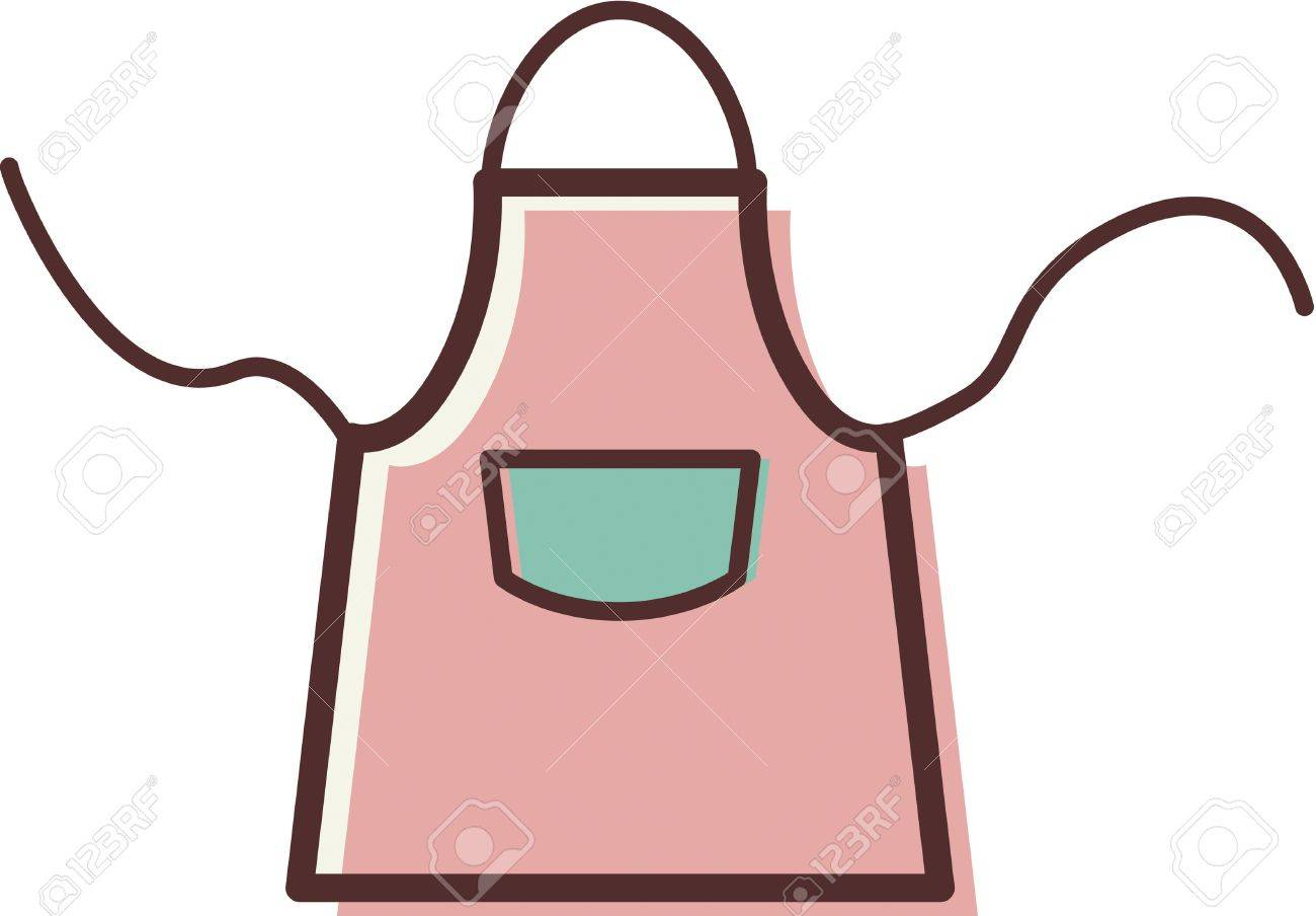 Illustration Of An Apron Stock Photo, Picture And Royalty Free ...