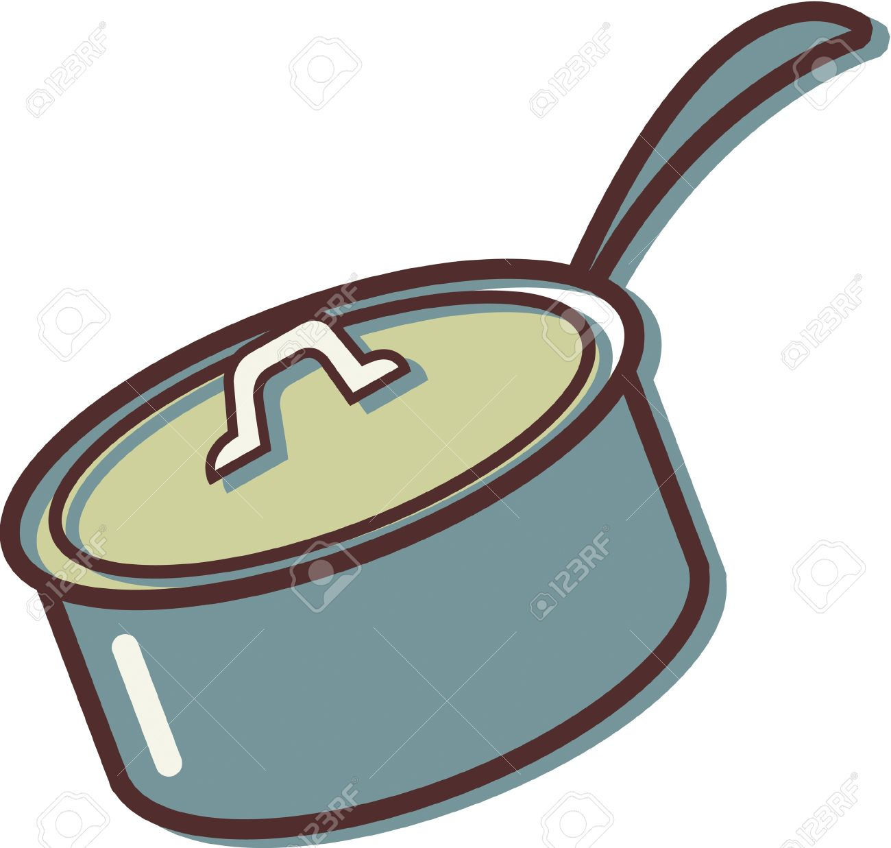 illustration of a pot with a lid stock photo picture and royalty rh 123rf com flower pot clipart clipart cooking pot