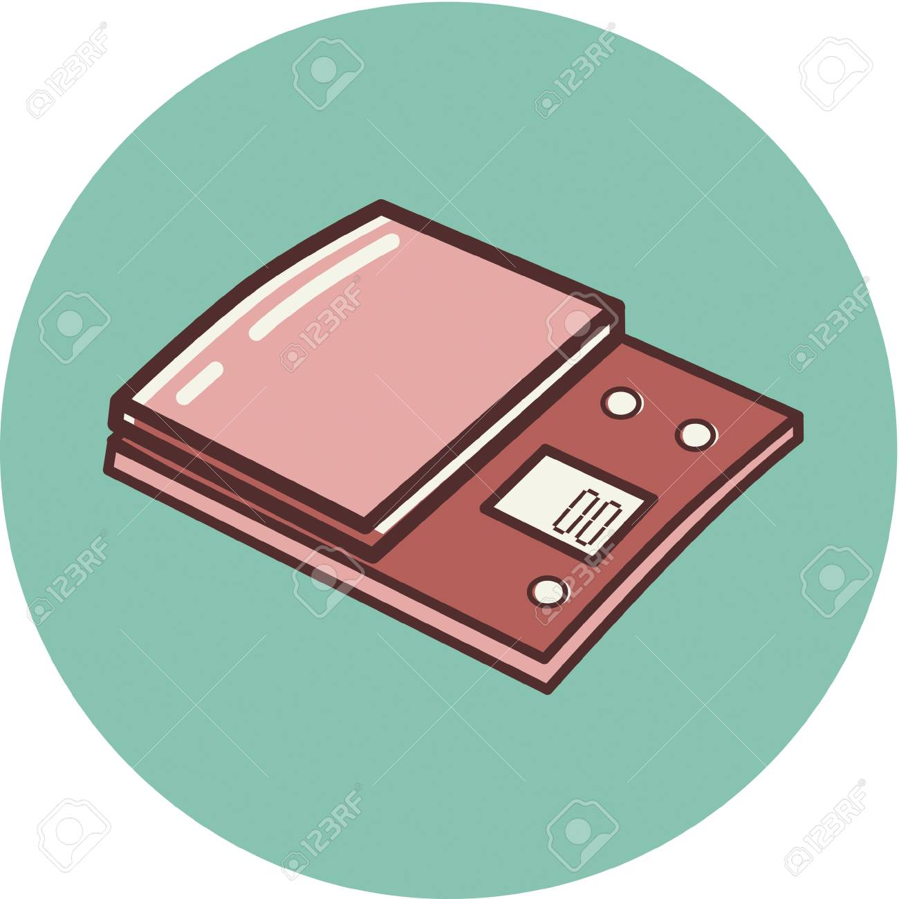 Illustration of a scale on a blue background Stock Photo - 14865139