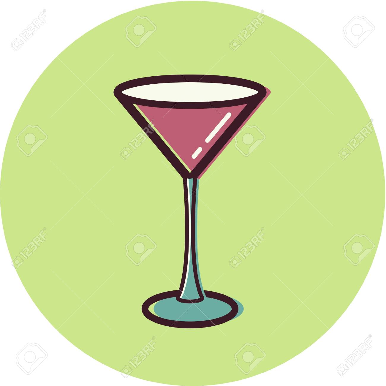Illustration of a martini glass Stock Photo - 14864957