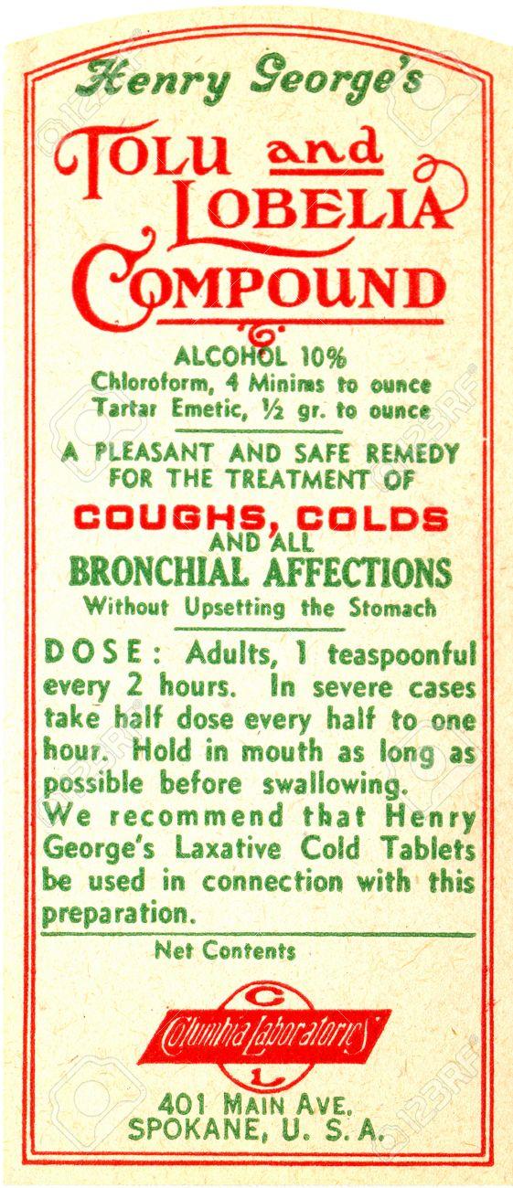 Vintage Medicine Labels 83075