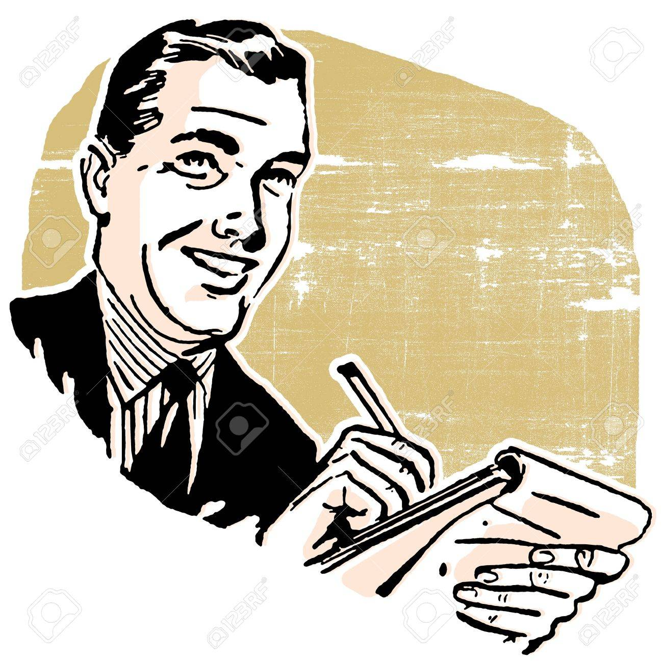 a business man writing in a notebook stock photo picture and rh 123rf com