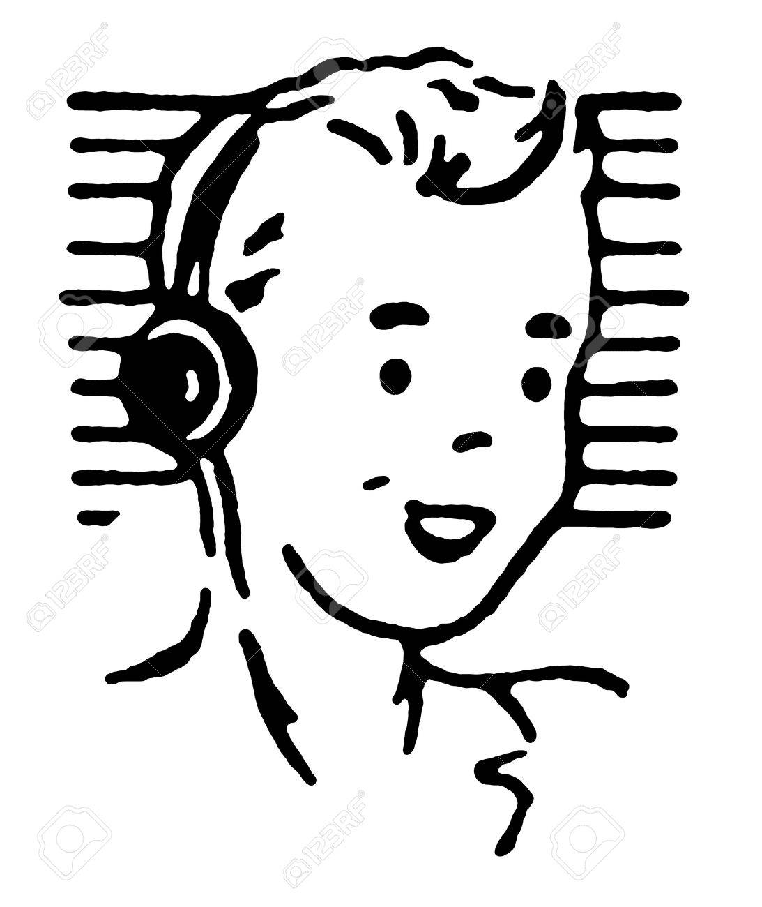 Portrait of boy wearing headphones and smiling Stock Photo - 14909236