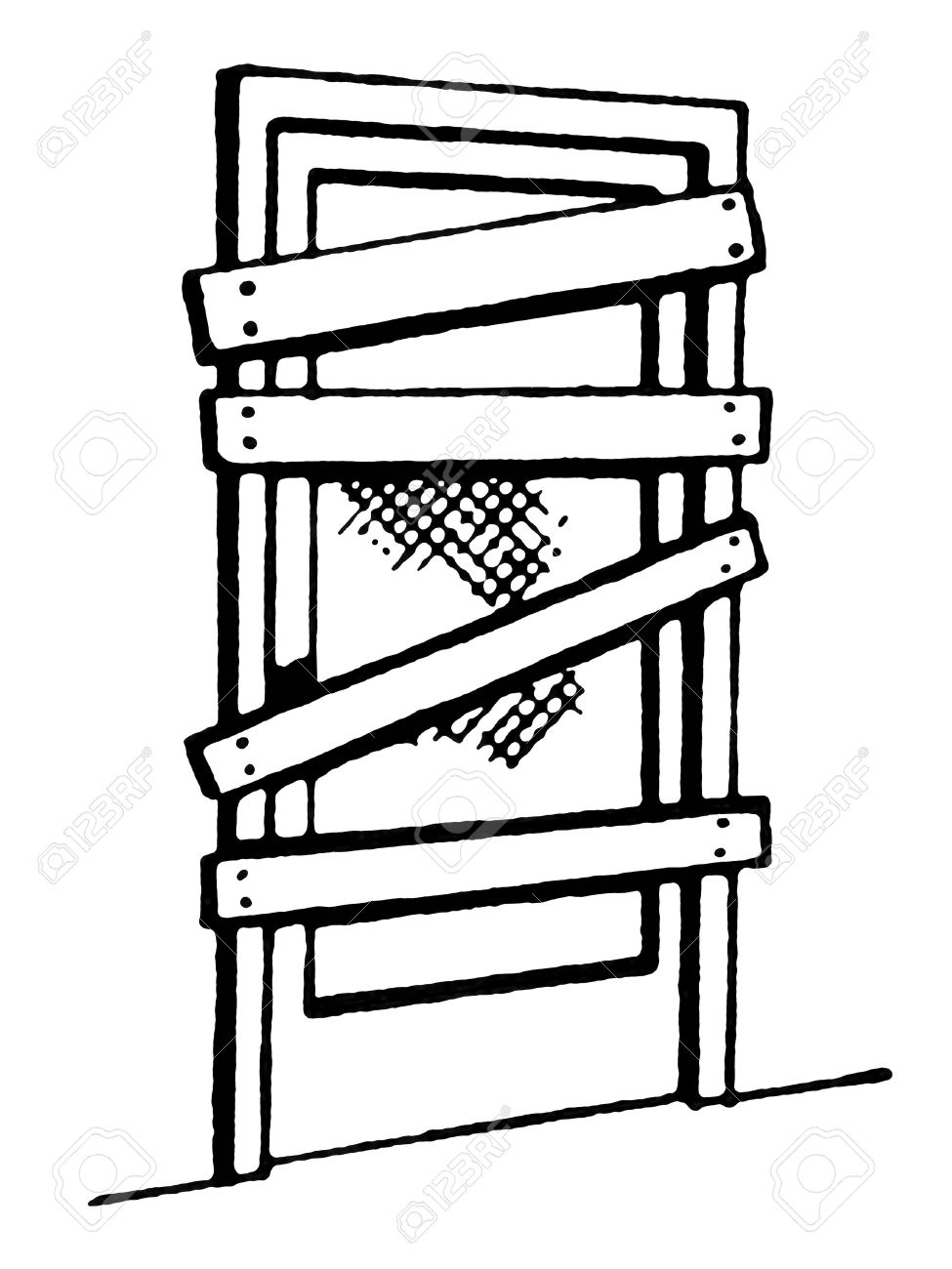 A black and white version of a door nailed shut Stock Photo - 14917505