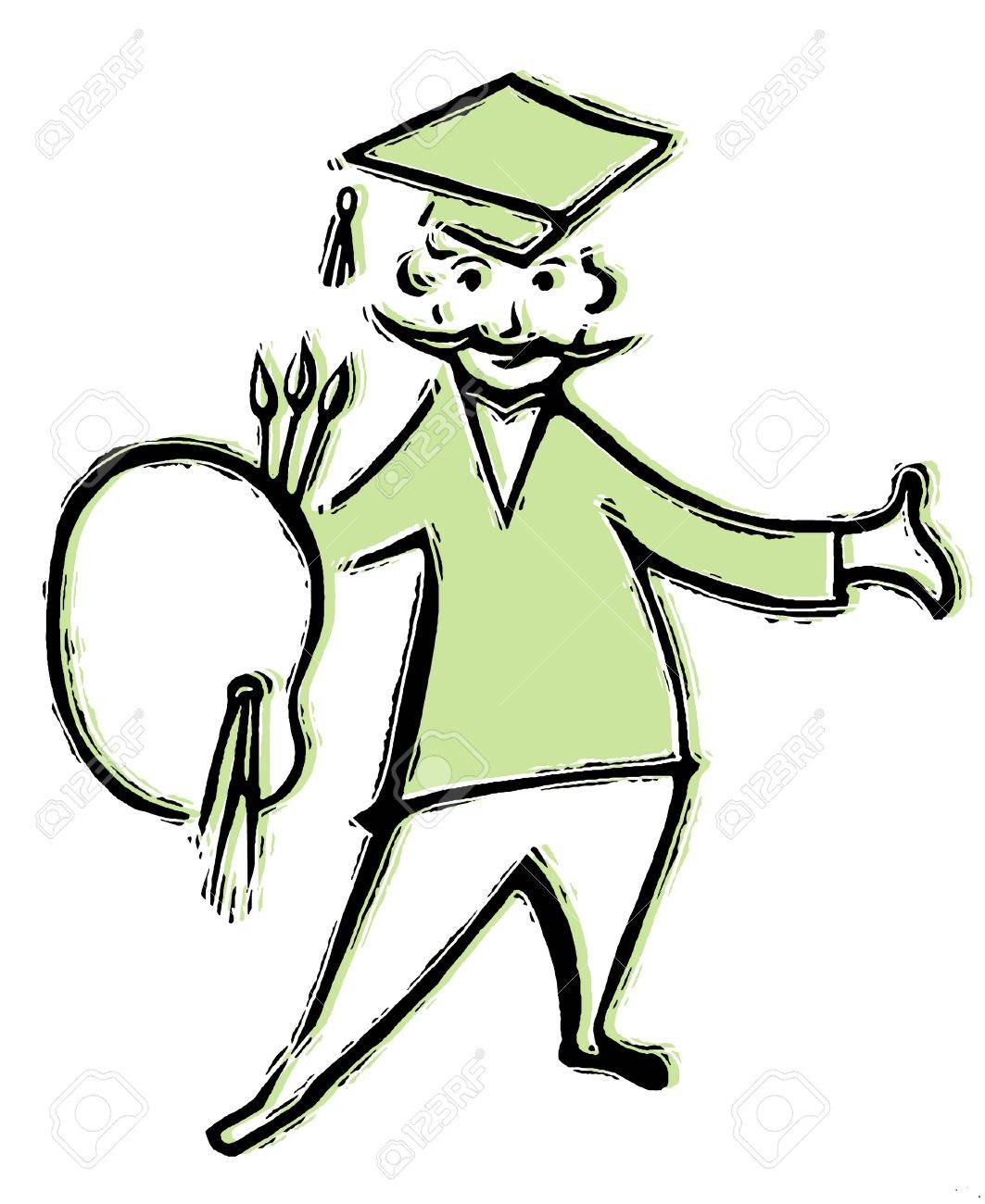 56ecfa56027 A drawing of a graduating artist stock photo picture and royalty jpg  1063x1300 Artist hat drawing