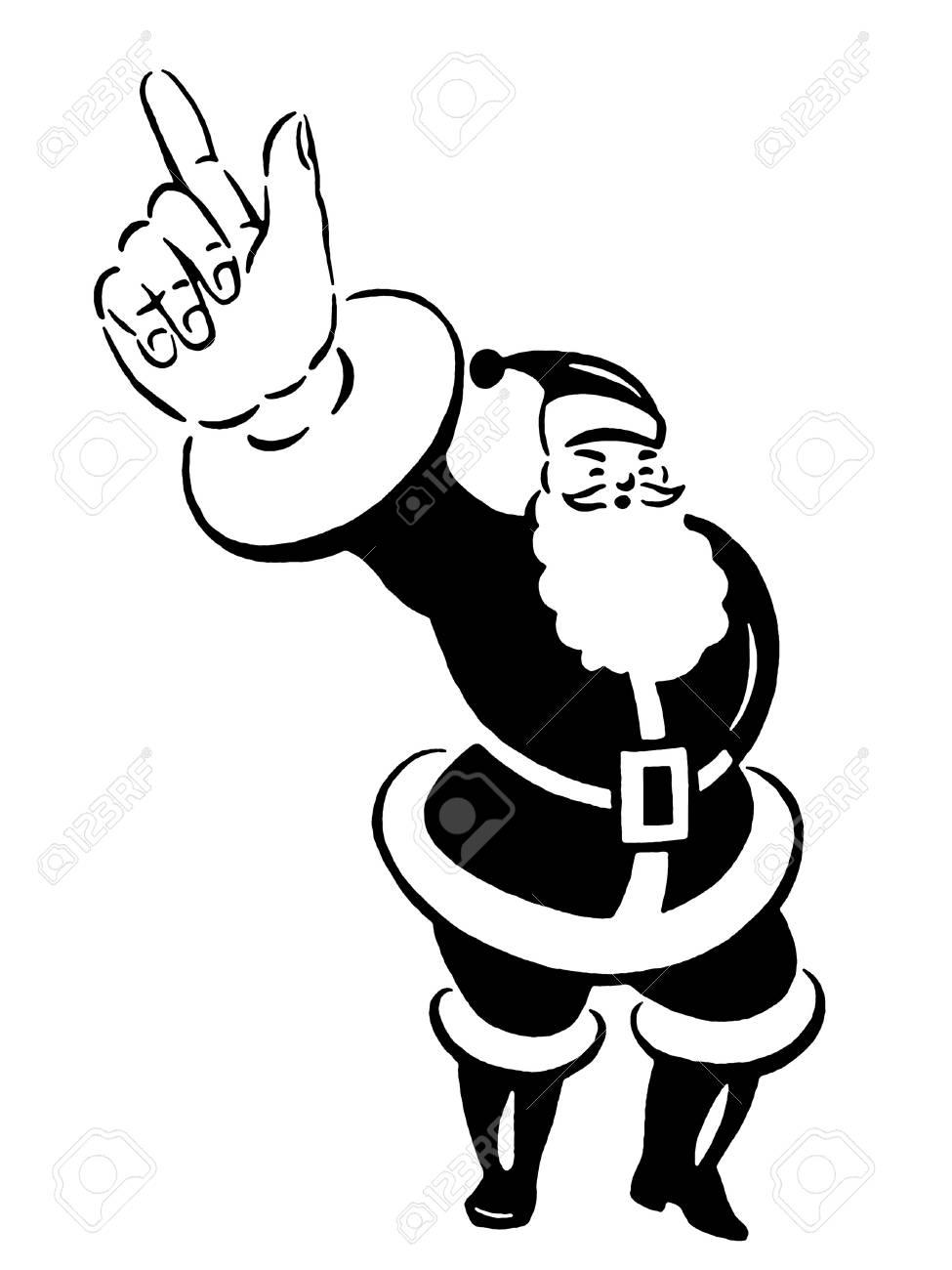 A Christmas inspired Santa illustration Stock Photo - 14917187