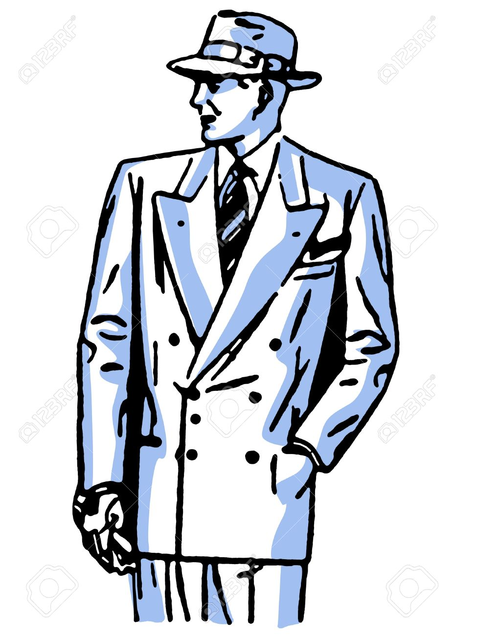 613f5299184 A graphical drawing of a detective character Stock Photo - 14917905