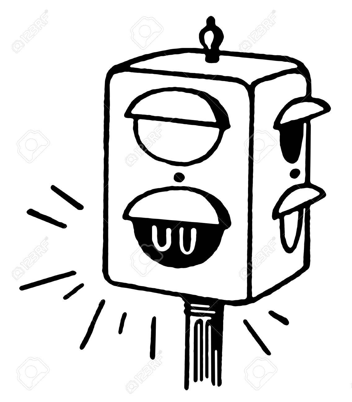 light clipart black and white. a black and white version of set traffic lights stock photo 14917253 light clipart