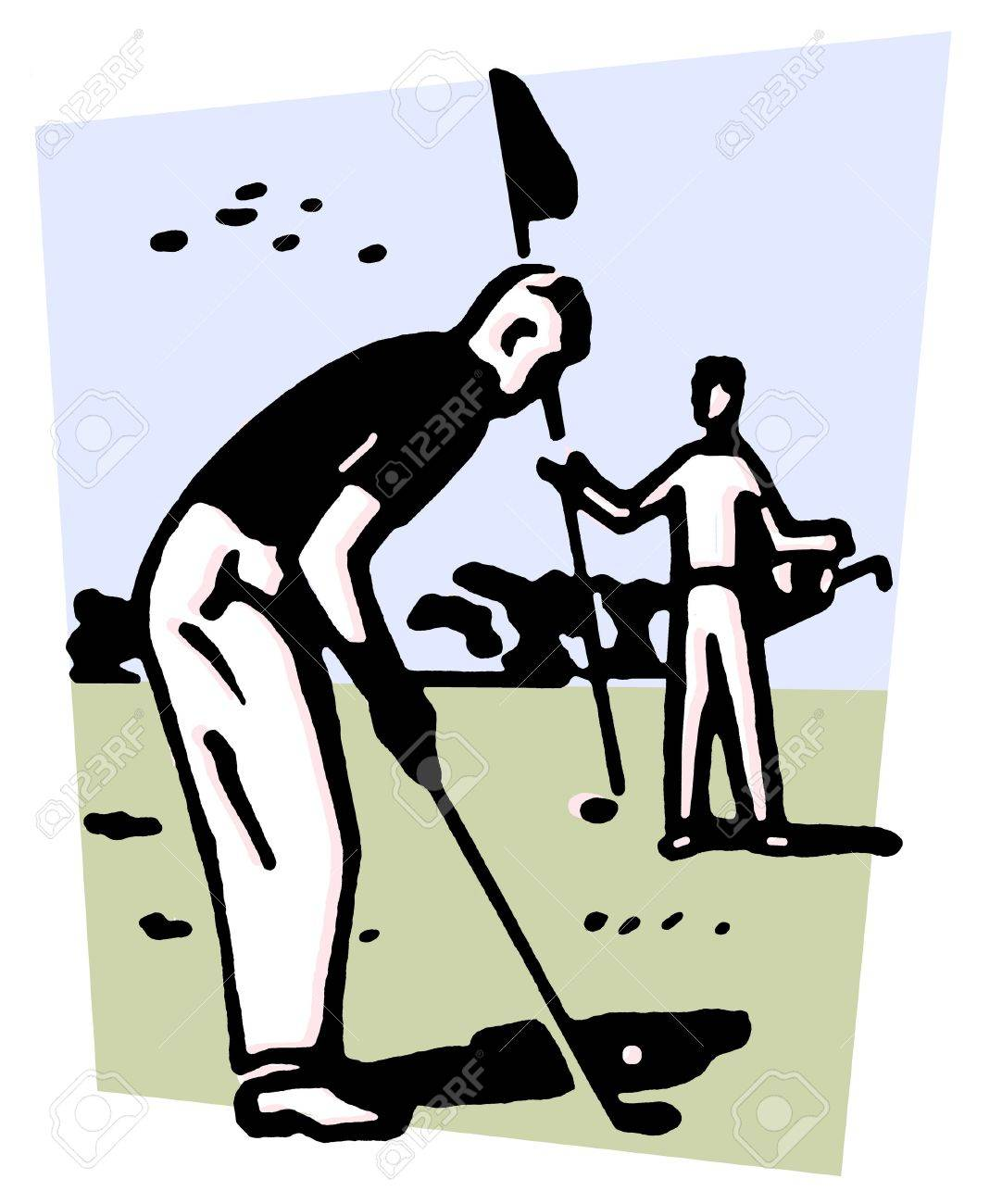 An illustration of a man playing golf Stock Photo - 14917354