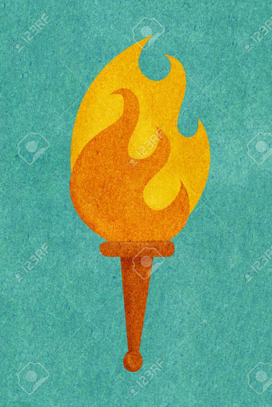 A textured flame Stock Photo - 15209480