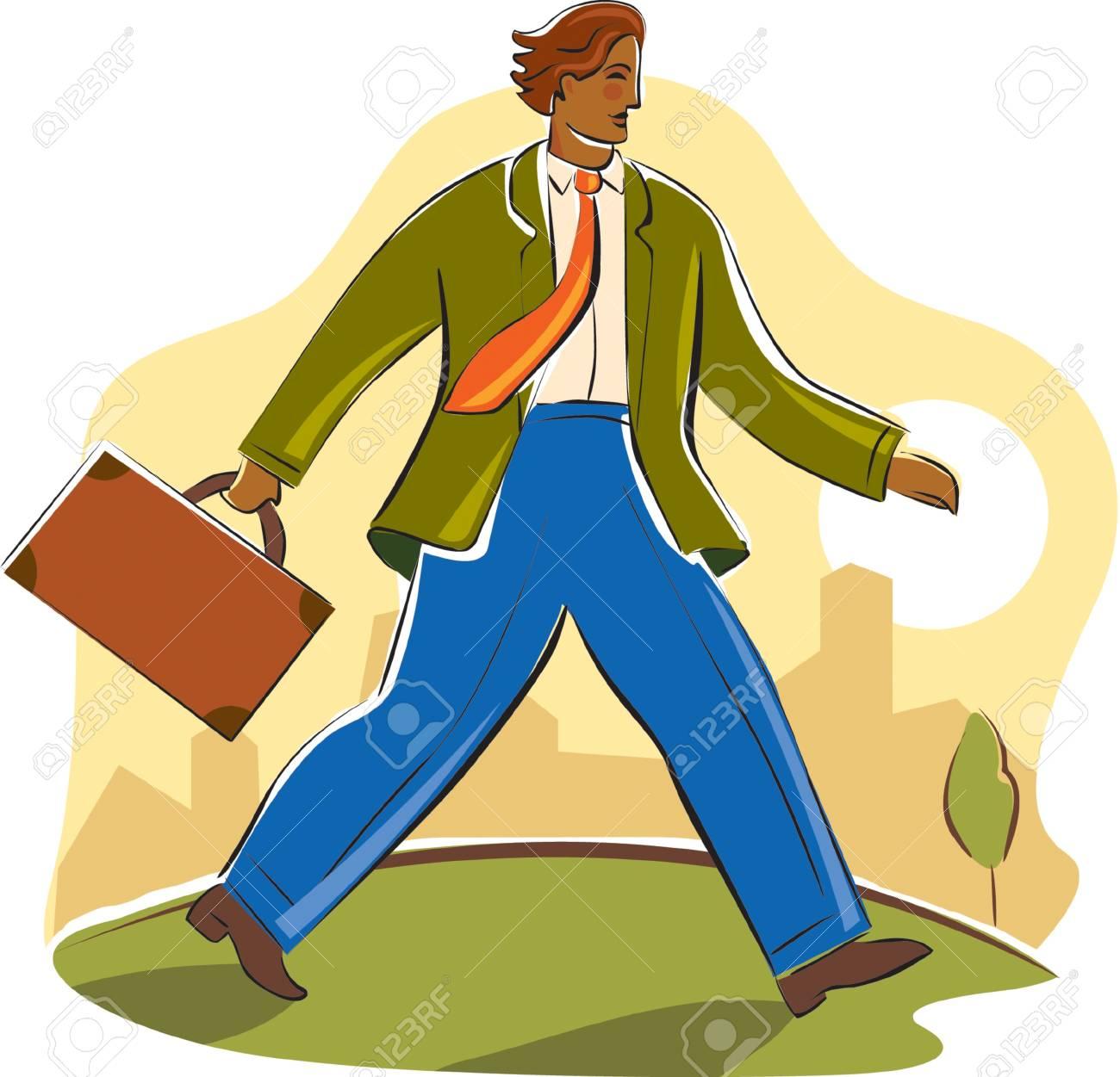 businessman walking briskly Stock Photo - 15208684