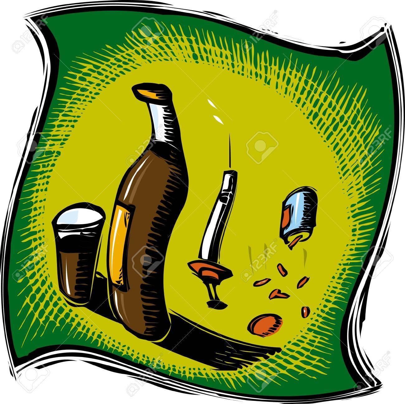 Drug and alcohol addiction Stock Photo - 15209375