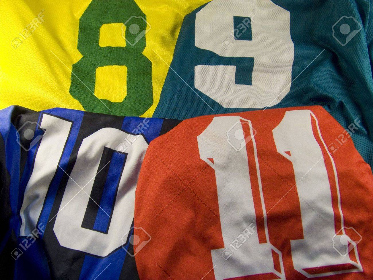 four different uniforms with numbers Stock Photo - 3581857