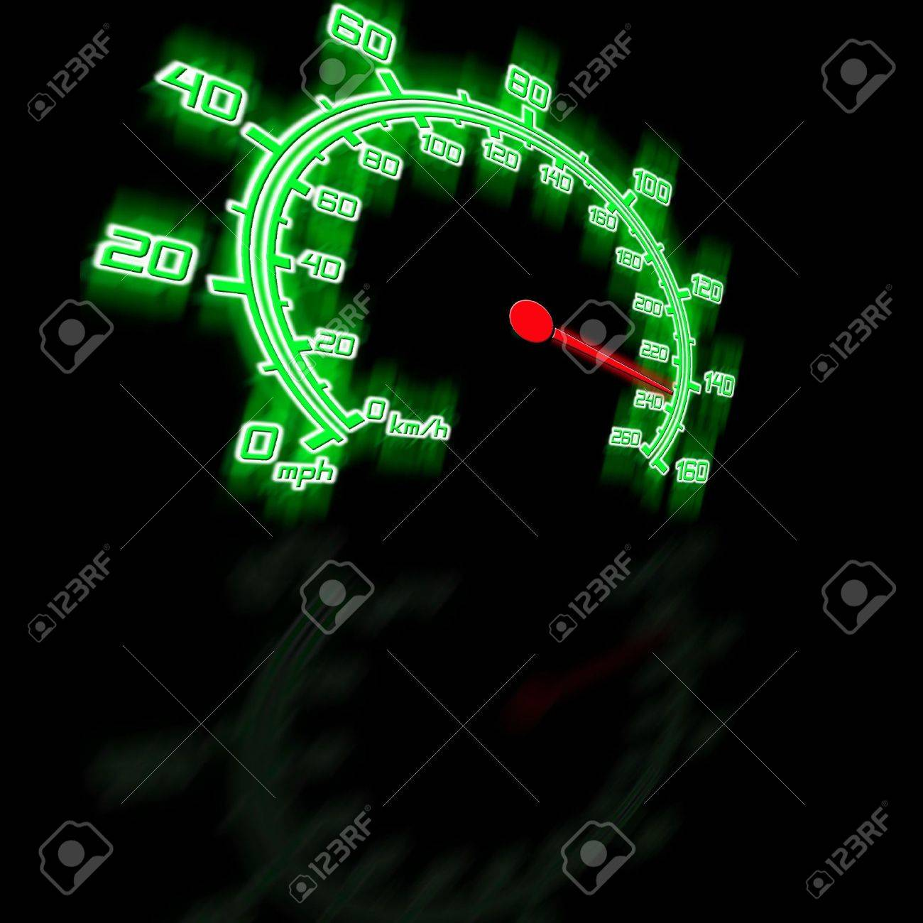illusttration of the spedometer in perspective Stock Photo - 5504178