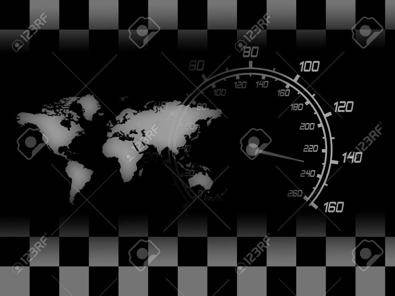 illustration of the speedometer map and racing flag Stock Photo - 5951690