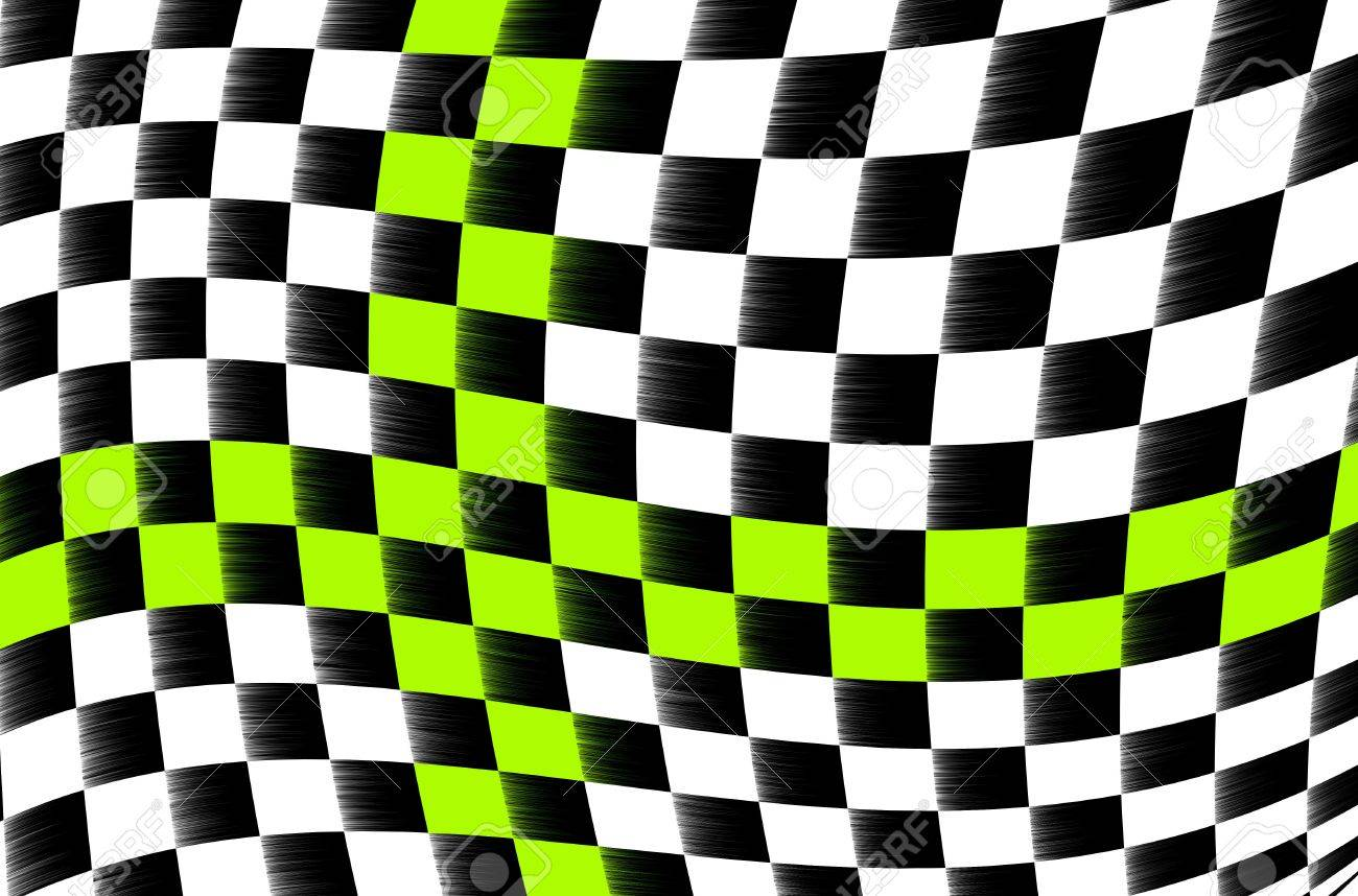 illustration of the abstract black and white checkered flag Stock Photo - 6427632