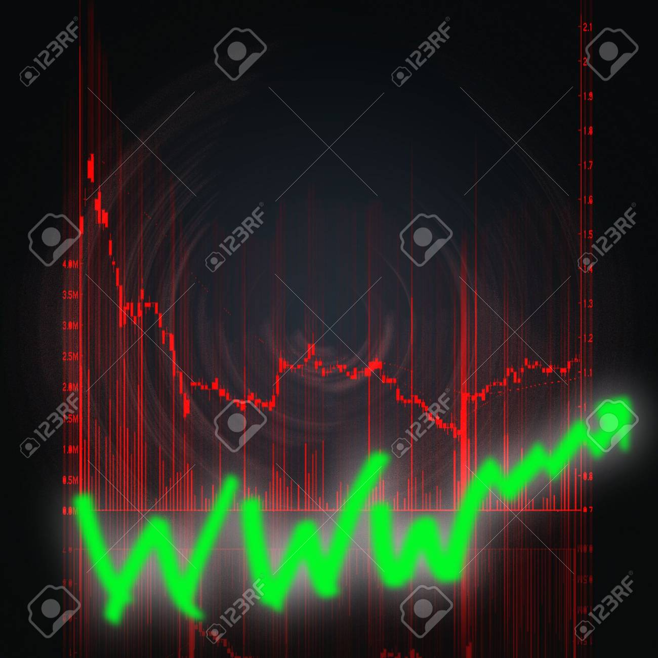 illustration of the red stock market chart Stock Photo - 6559661