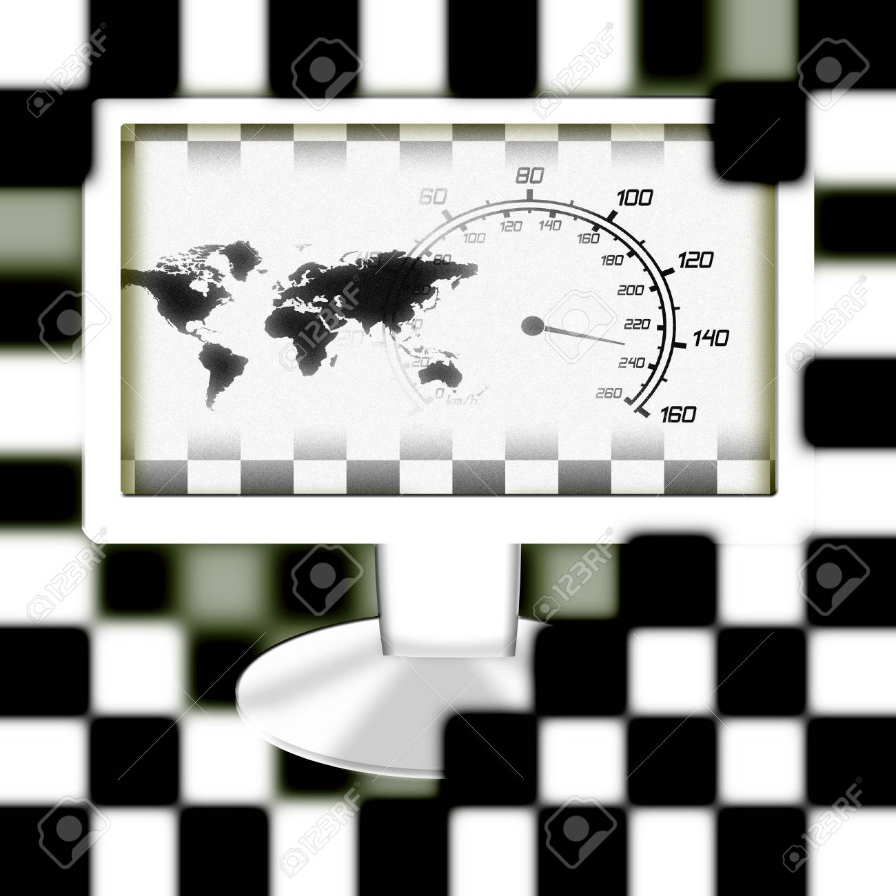 illustration of the around the world racing monitor Stock Photo - 6689064