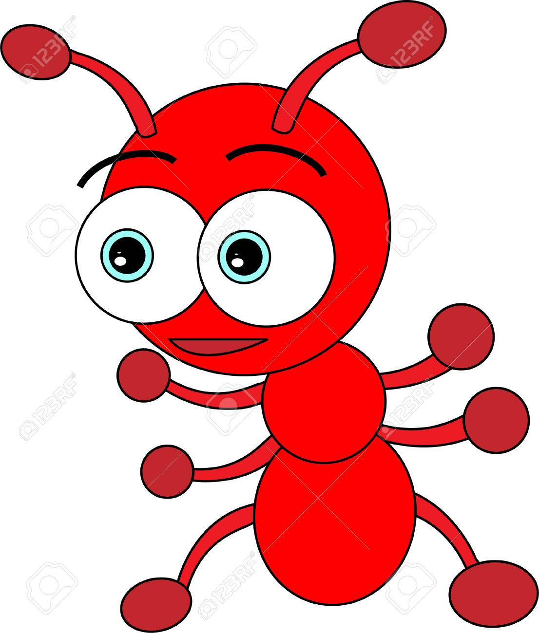 Uncategorized Ant Images For Kids cute little red ant royalty free cliparts vectors and stock vector 4167750