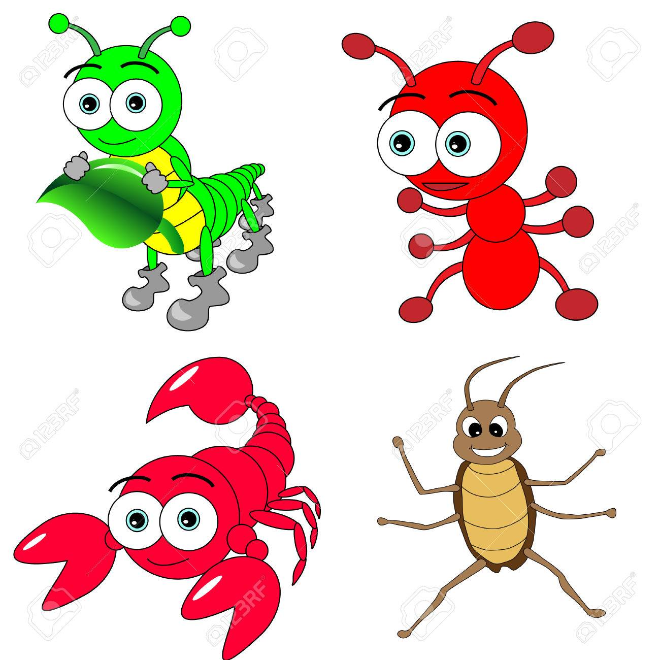 Cute Insects Set Stock Vector - 4488191