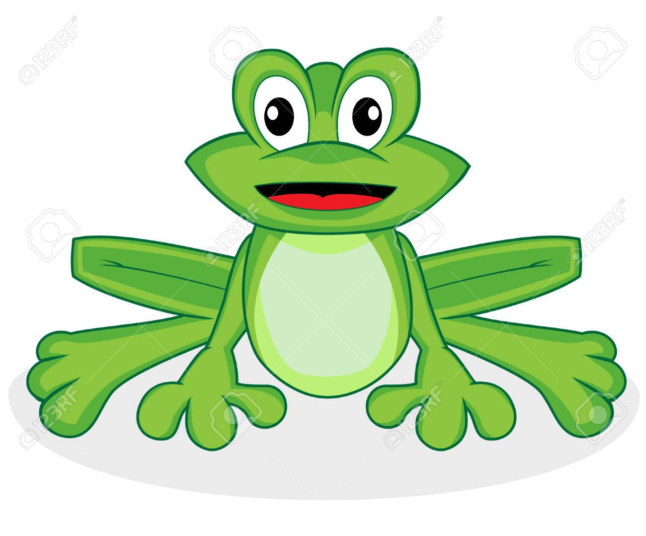 cute happy looking tiny green frog with big eyes royalty free