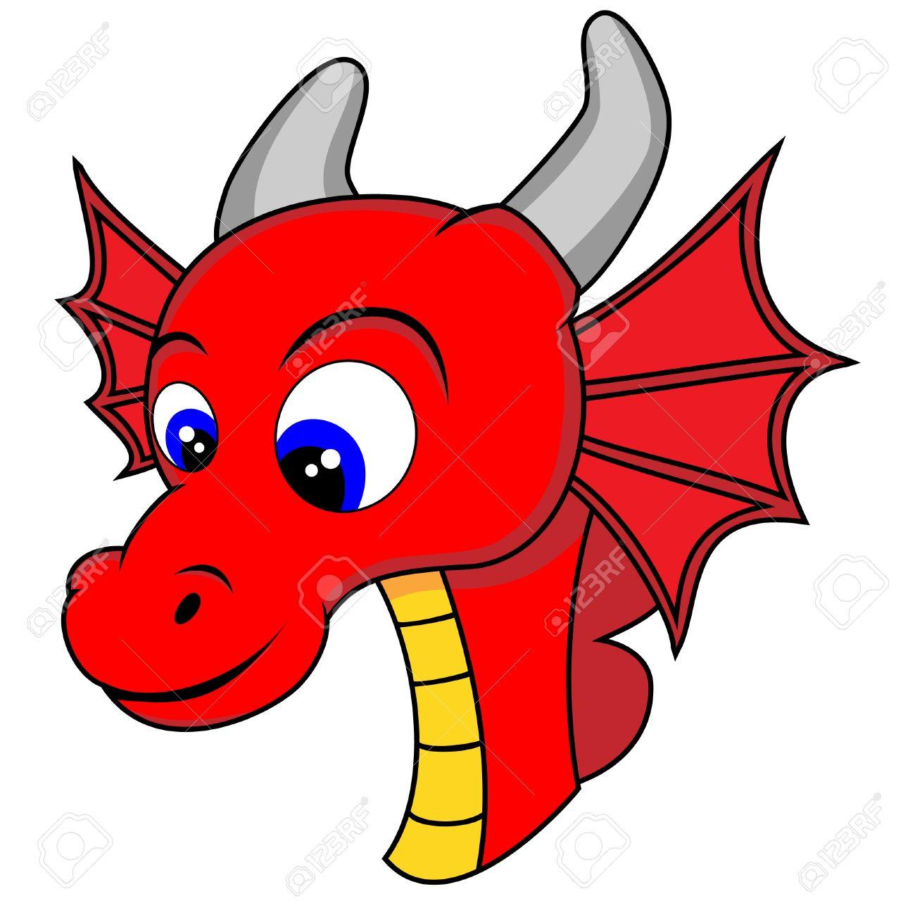 cute dragon head royalty free cliparts vectors and stock