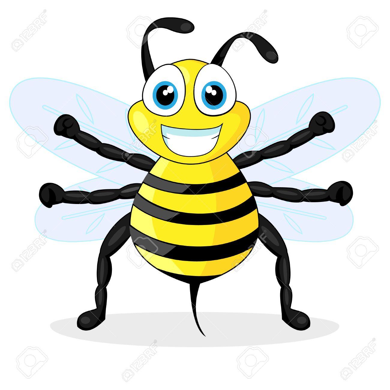 cute bee Stock Vector - 8285833