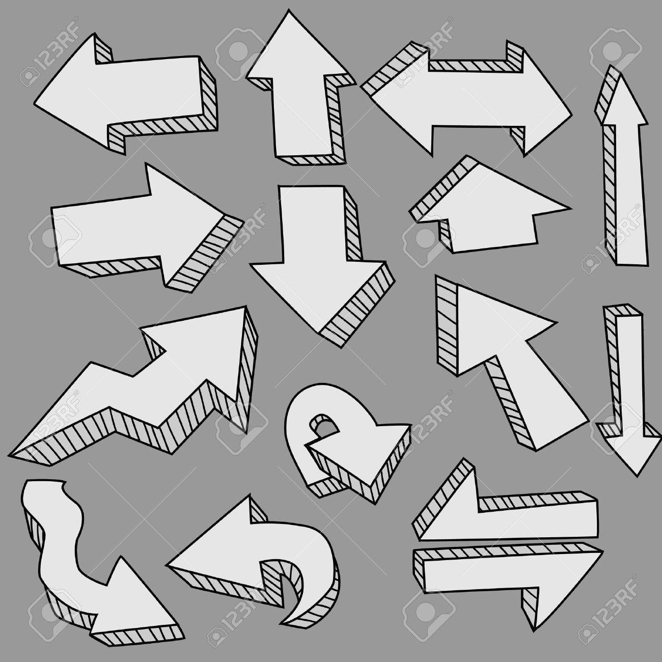 cute doodle arrows Stock Vector - 10088518