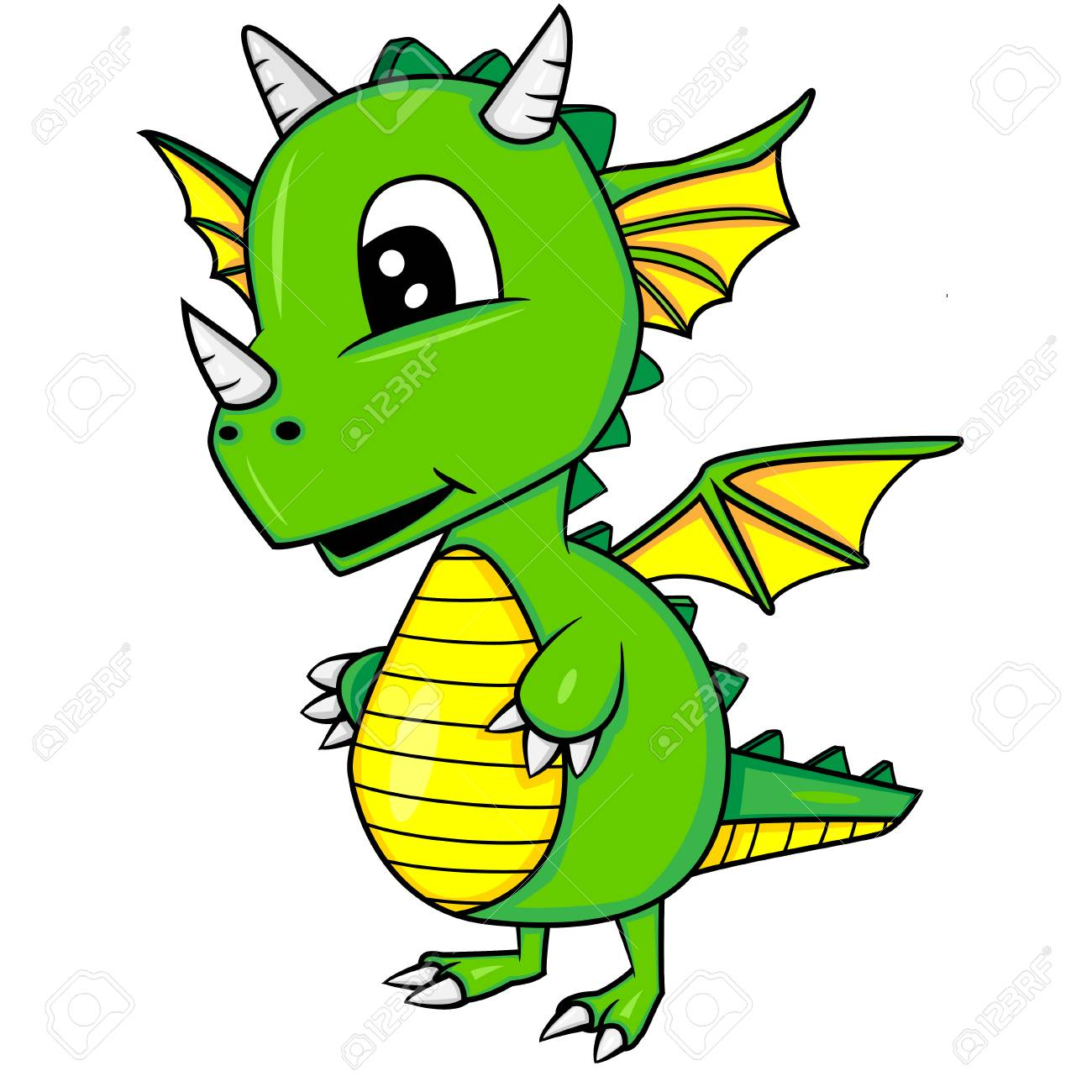 Illustration Du Dragon Bebe Dessin Anime Mignon Vector Eps 8 Clip