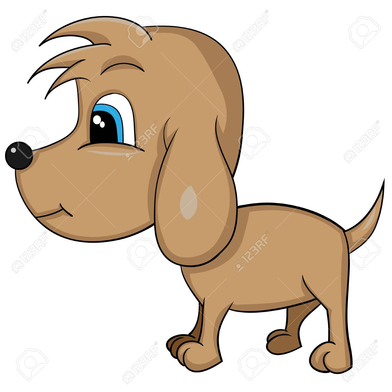 illustration of isolated cartoon cute dog vector eps 8 royalty rh 123rf com dog vector images dog vectors free download