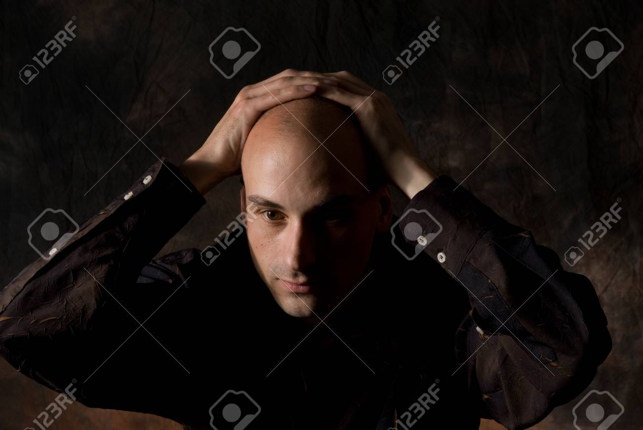 portrait of young sad male Stock Photo - 5318407