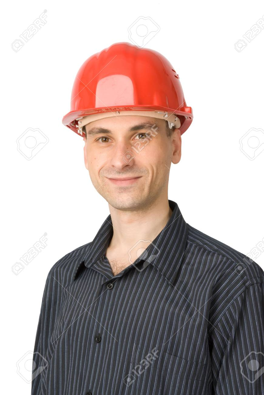 young worker solated on white background Stock Photo - 5318343