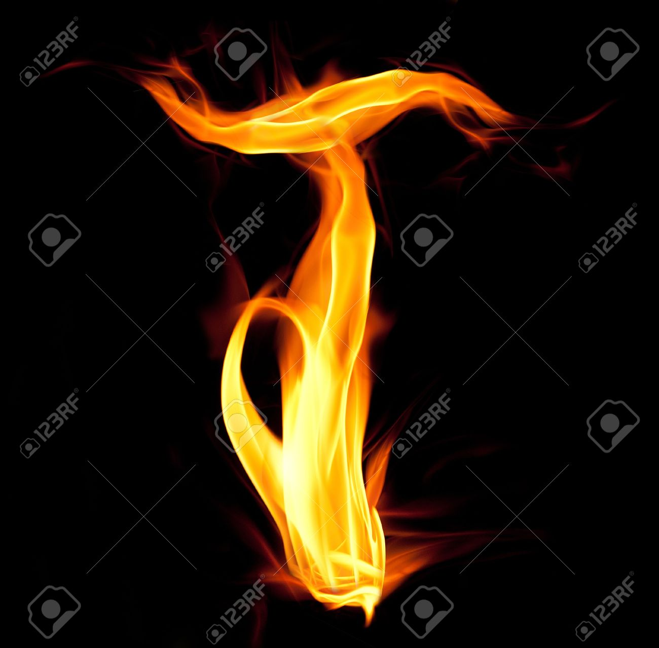 Fiery Font. Letter T Stock Photo, Picture And Royalty Free Image