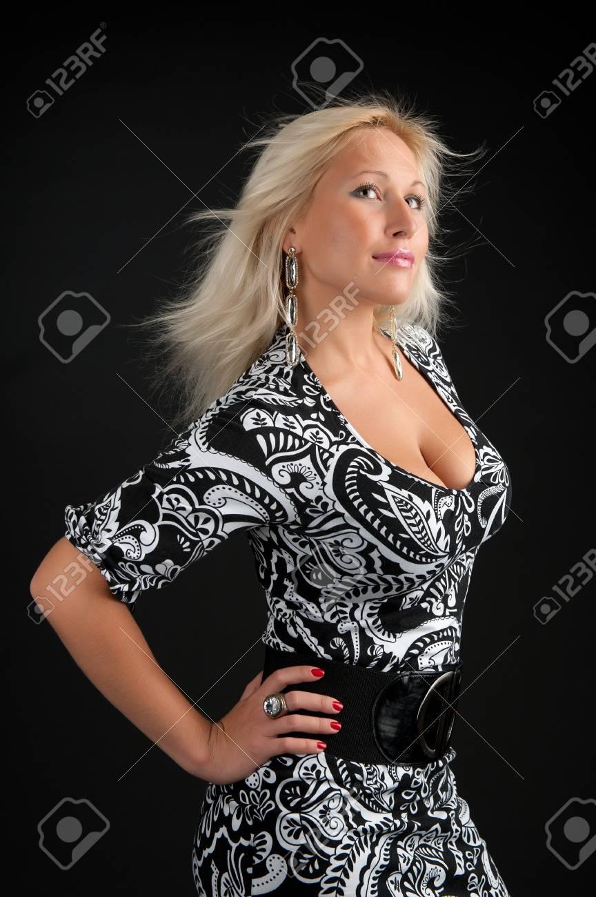 Portrait of sexy woman in the dark Stock Photo - 8271875