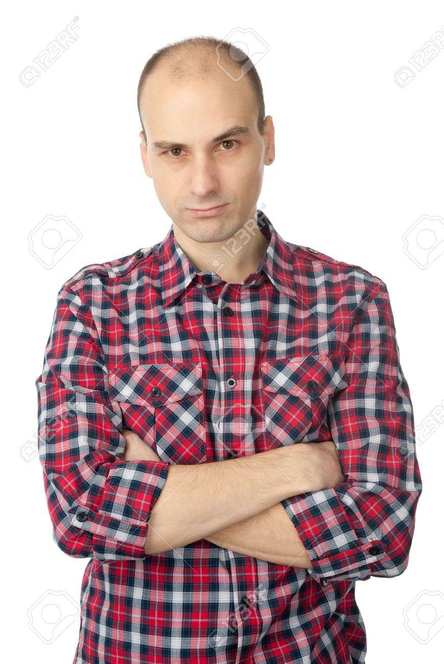 young fashion man with a serious look and crossed arms Stock Photo - 8716336