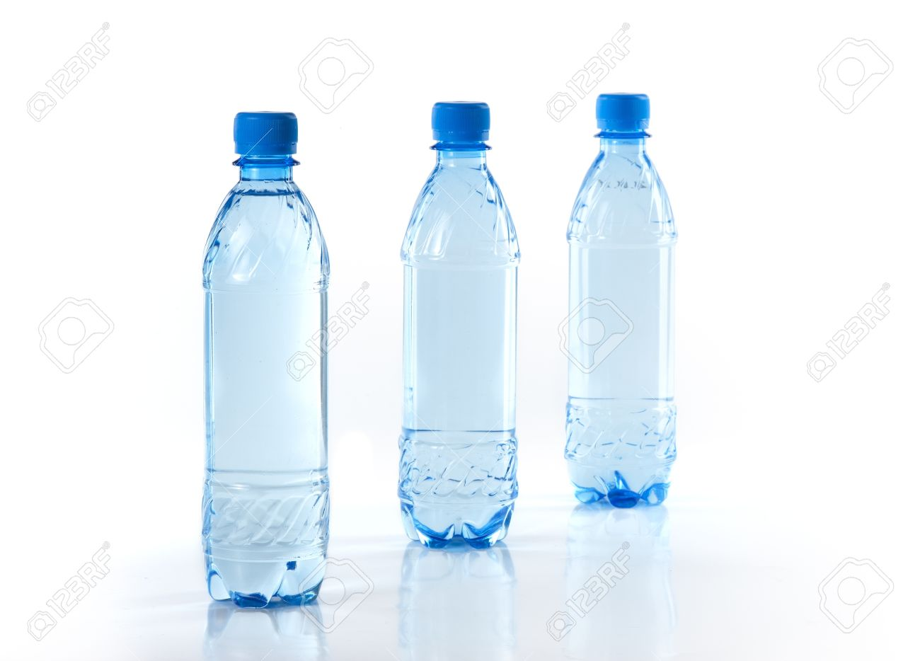 purify drinking water in a clear bottle stock photo picture and