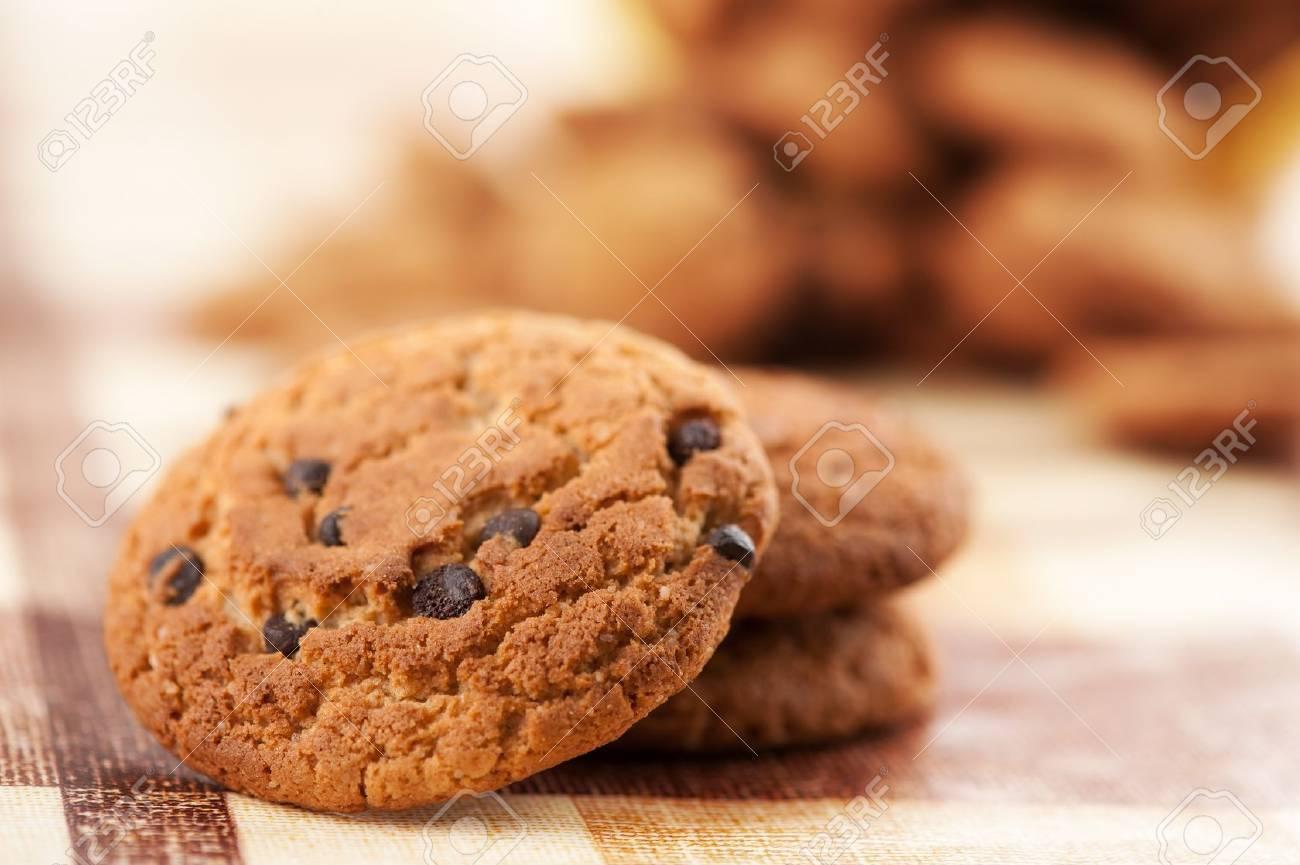 cookies with chocolate closeup Stock Photo - 9824140