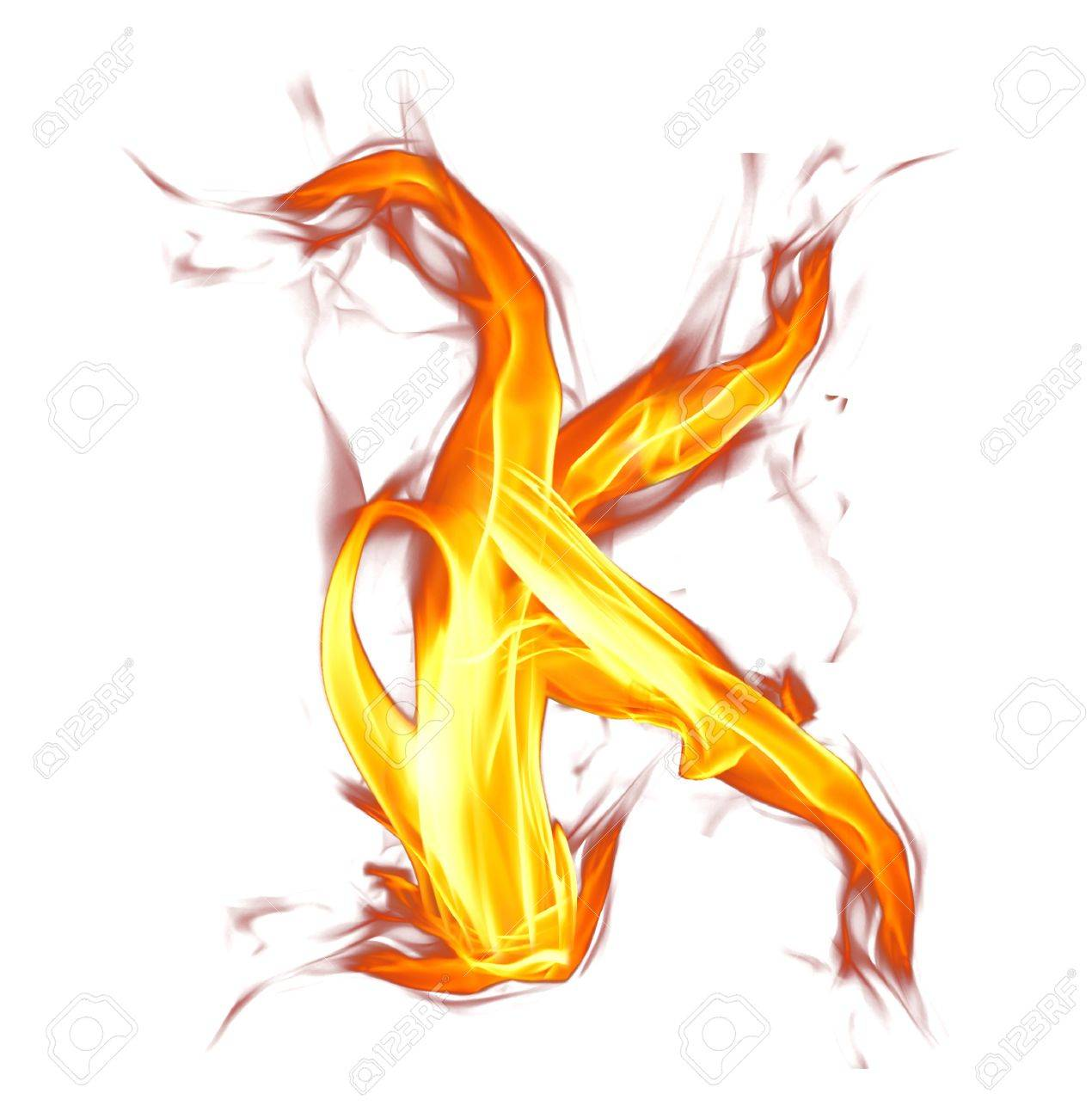 Fire letter isolated on white background Stock Photo - 18000831