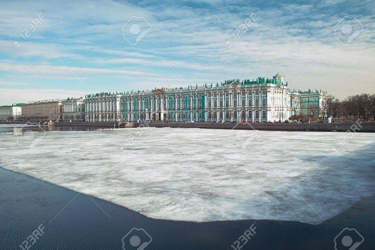 18th century Winter Emperor Palace on the Neva river quay, Saint Petersburg Stock Photo - 4636749