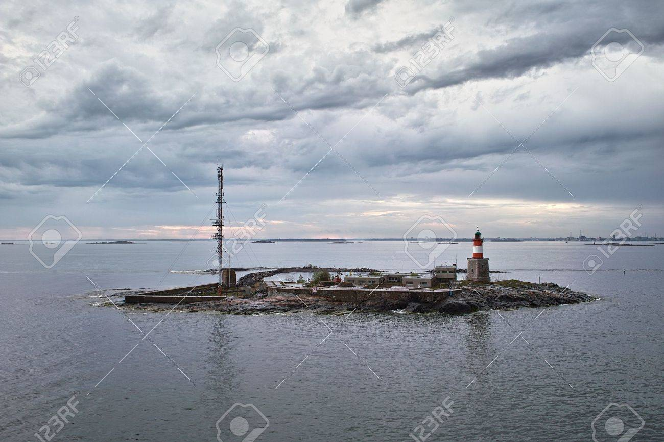 Lighthouse at small island in Baltic Sea Stock Photo - 7151248