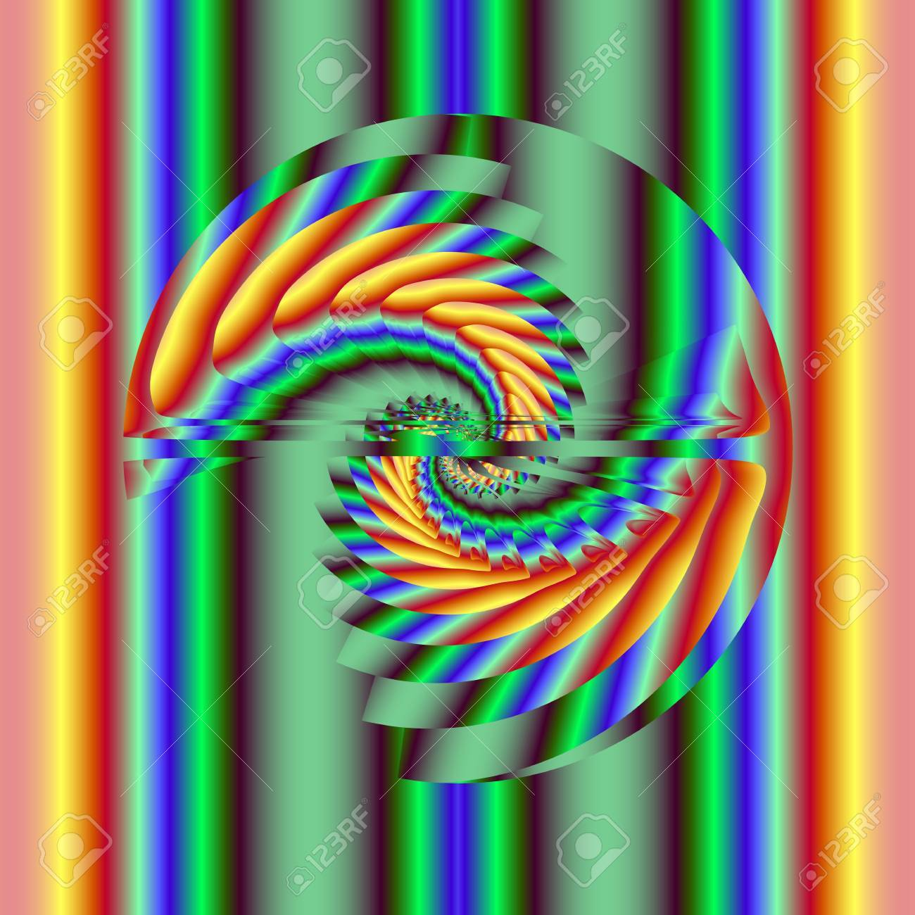 Abstract rainbow helix. Computer generated fractal image Stock Photo - 7247078