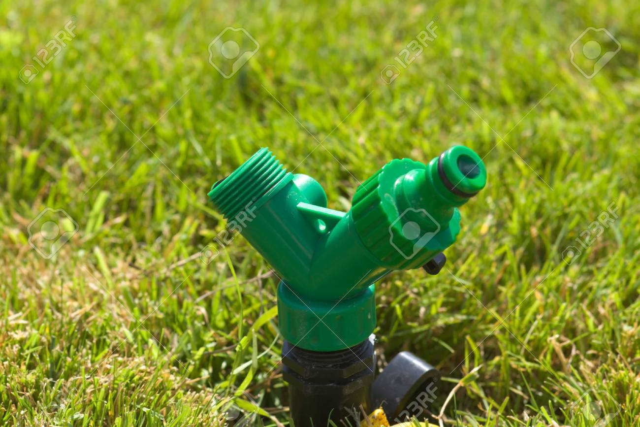garden sprayer on the lawn Stock Photo - 3535558