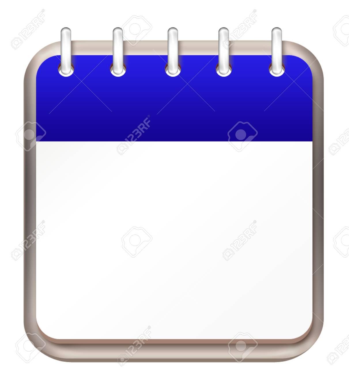 calendar blue template Stock Photo - 16261249