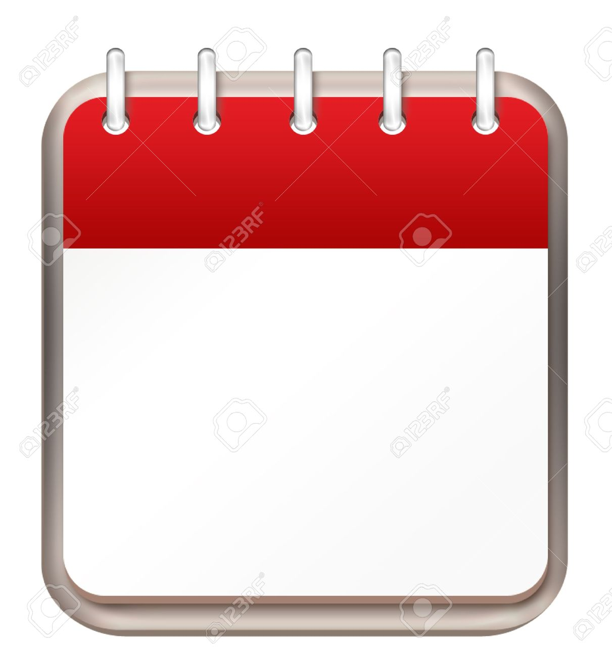 Calendar Red Template Stock Photo, Picture And Royalty Free Image ...