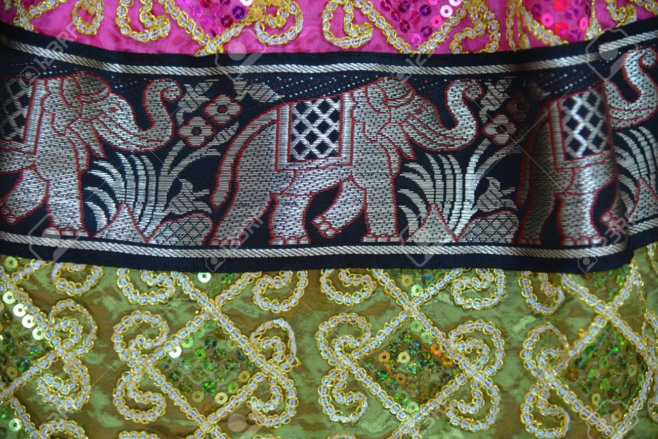 Colorful fabrics of Thailand Stock Photo - 20300849