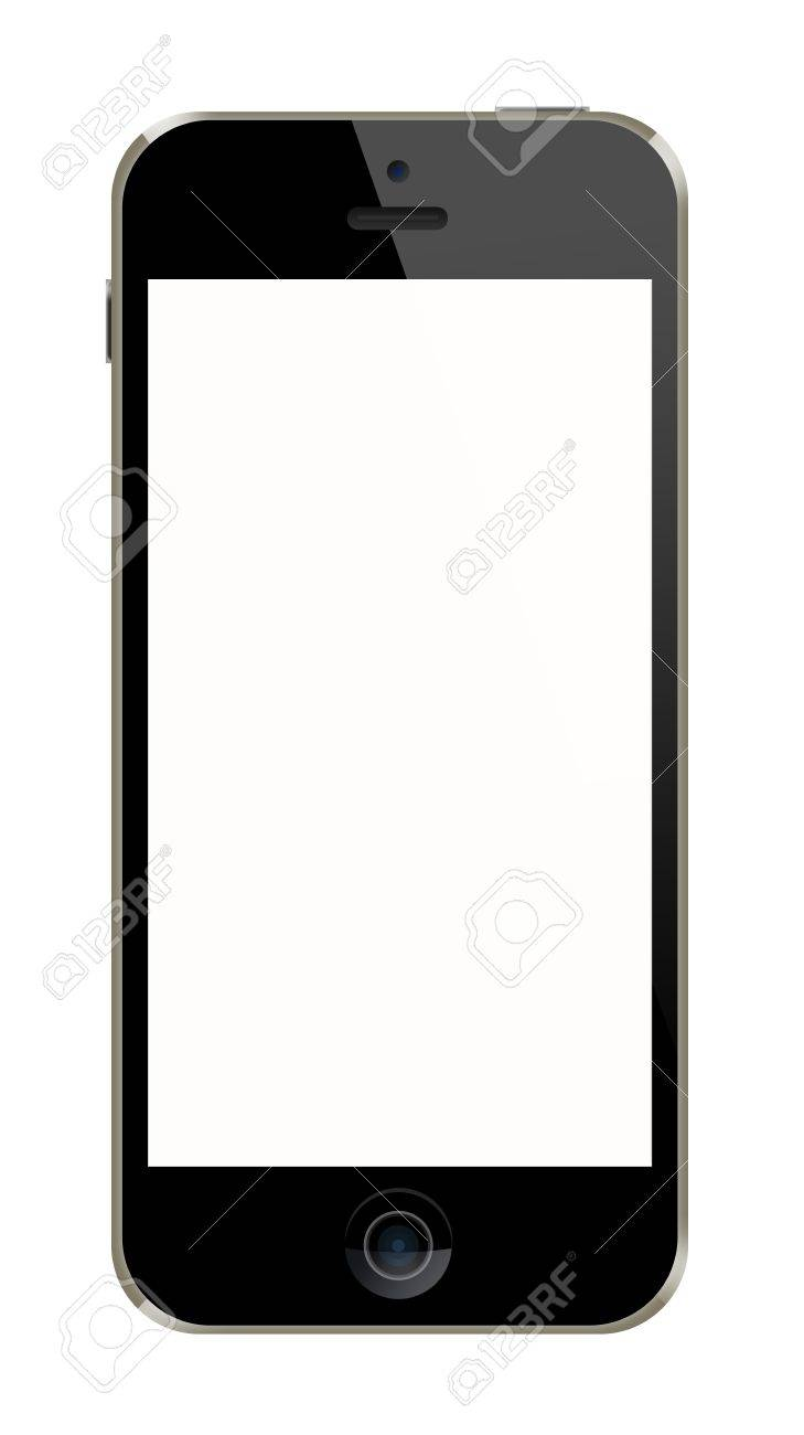 Mobile Phone Frame On White Background Stock Photo, Picture And ...