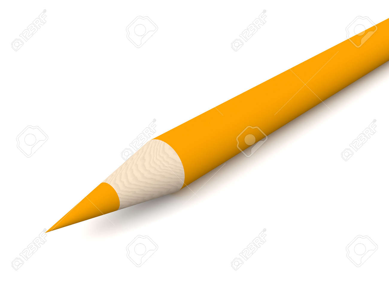 Tangerine Crayon Stock Photo - 573611