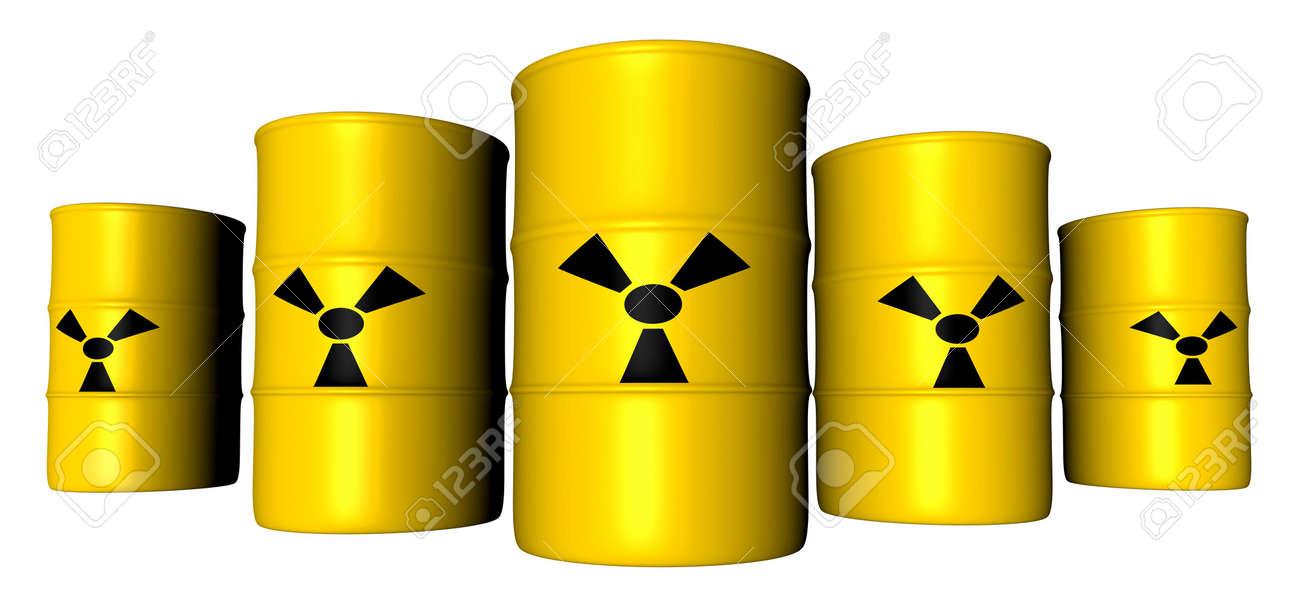 Radioactive Barrels Stock Photo - 777980