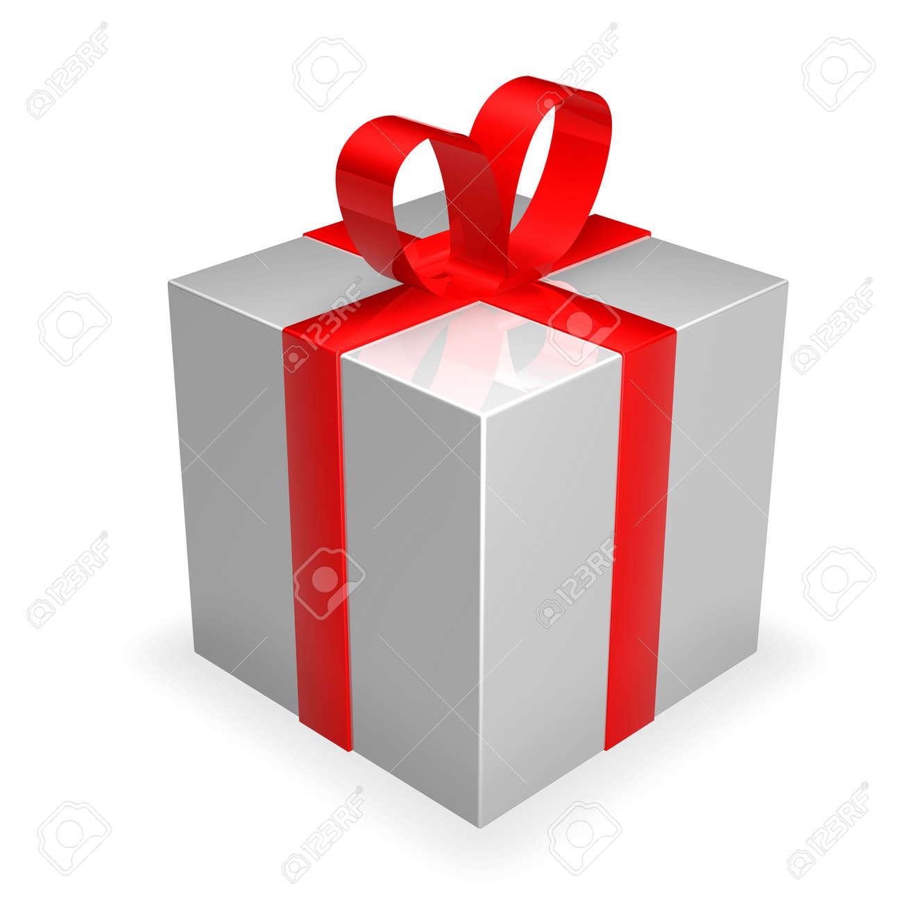 Gift Box - silver Stock Photo - 1193519